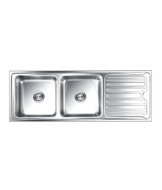 Buy Nirali Kitchen Sink Double Bowl-Luxor Small Anti-Scratch Online ...