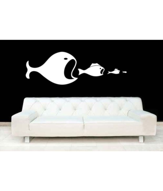 wall whispers fish in white wall sticker buy wall