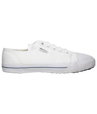 Bata White Canvas Shoes - Buy Bata
