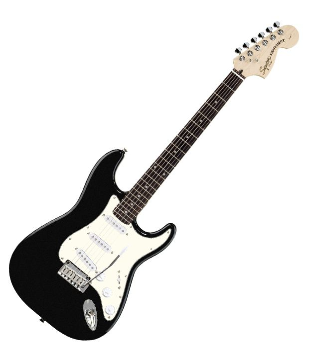4d854ac9729 Buy Squier Standard Stratocaster, Rosewood Fingerboard, Black Metallic &  Freebie: Guitar Carry Case. Online at Best Prices in India on Snapdeal