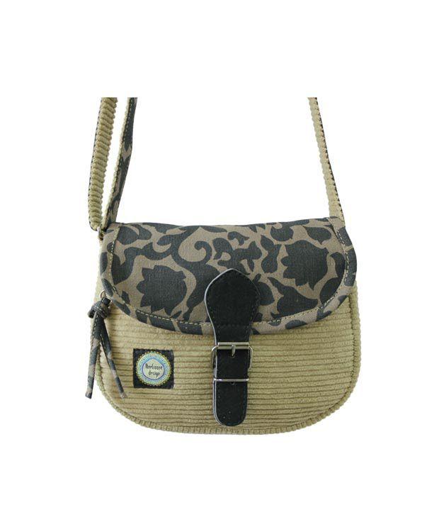 Anekaant ADB3375F Beige Sling Bags