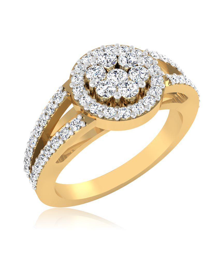 Forever Carat Real Diamond Ring in 100% Certified 14kt Gold 0246