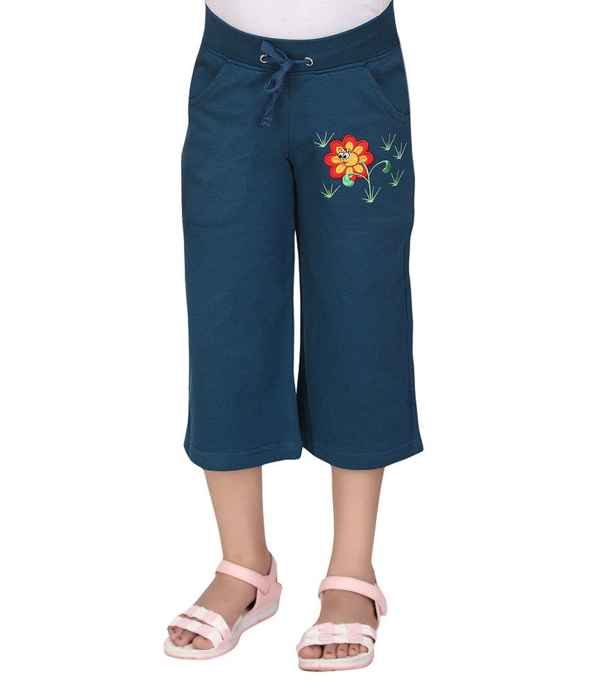 SINIMINI Blue Capris For Girls