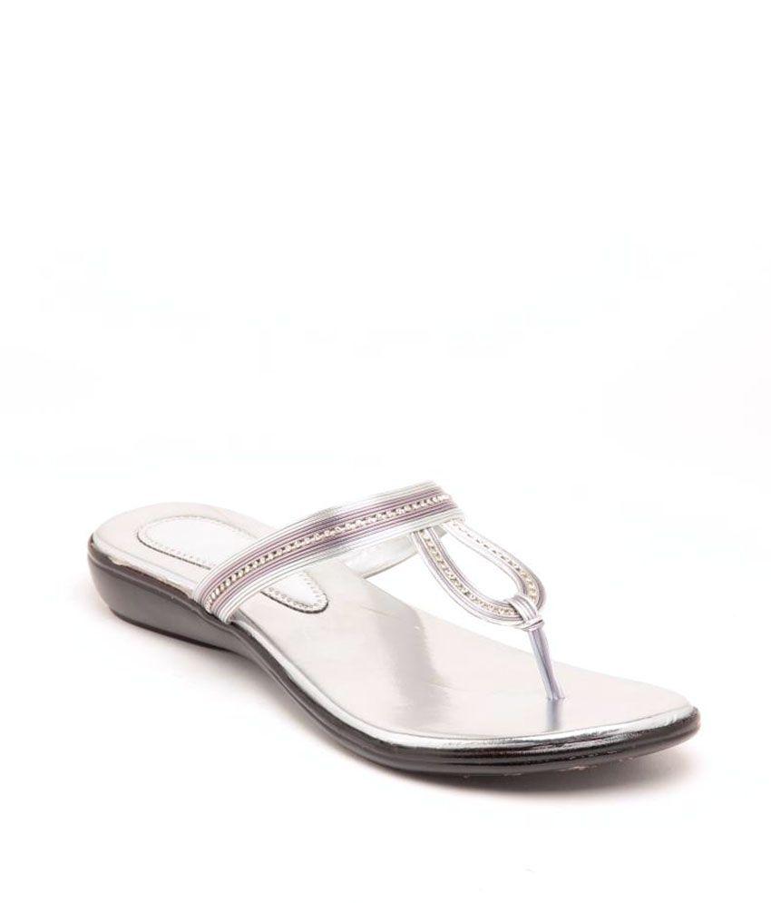 Sindhi Footwear Ethnic Silver Flats