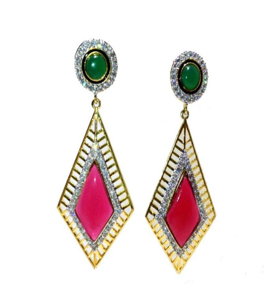 Fine Jewellery Designer Ruby Emerald Earrings - Buy Fine Jewellery ...
