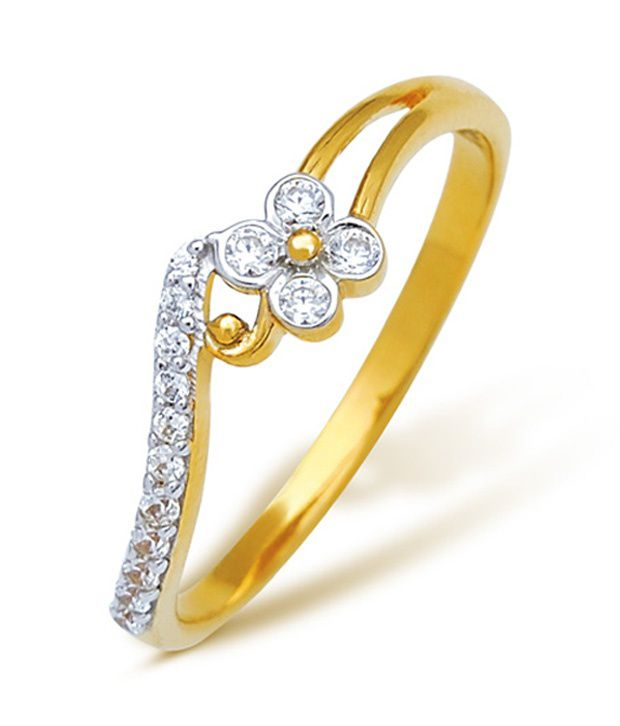 18Kt Hallmarked 0.104 Cts Real  Diamond Ring by Corona