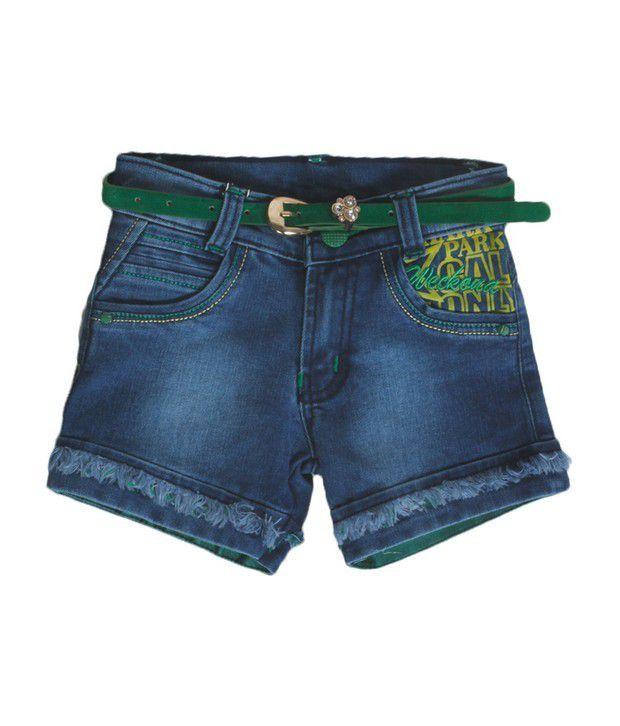 Love Kins Blue Color Shorts For Kids