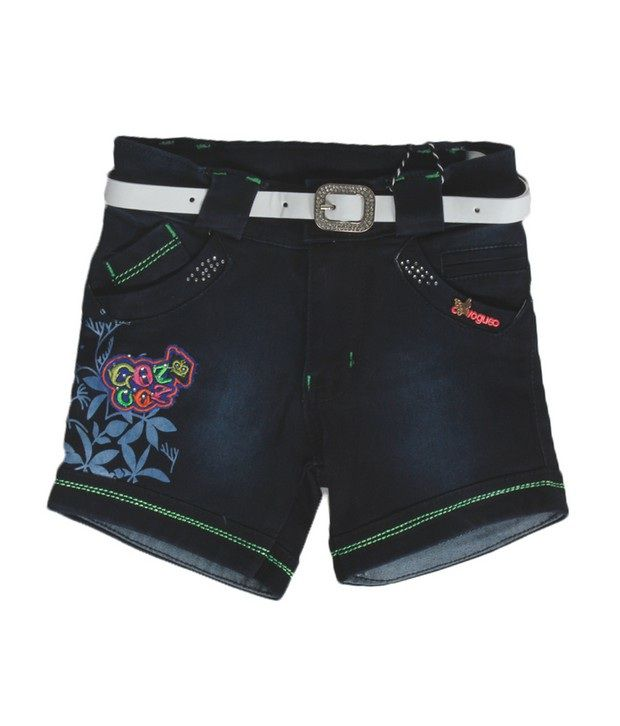Love Kins Blue Color Solid Shorts For Kids