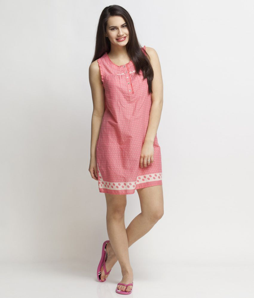 Buy Oxolloxo Pink Cotton Short Nighty Online at Best Prices in India -  Snapdeal ccccd62ae2c3