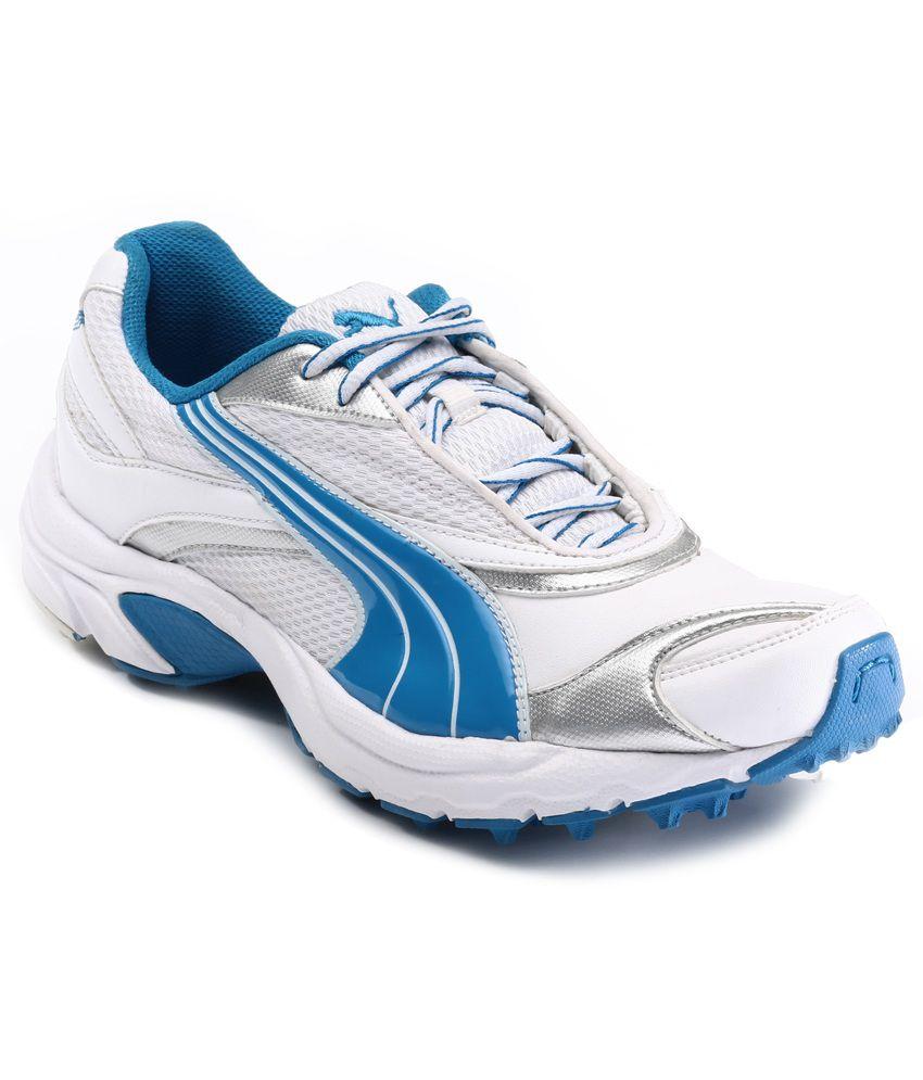 b84596fd3da ... Puma Lithium Rubber DP white Cricket Shoes ... autumn shoes 45ad6 2d191  ...