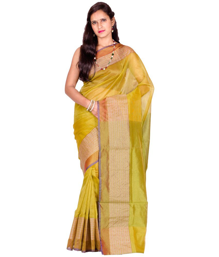 Chandrakala Yellow Banarasi Cotton Saree
