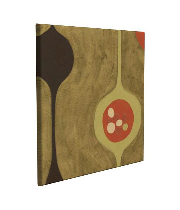 Artjini Nest II Multicolour Canvas, Frame - Wood Paintings-Abstract