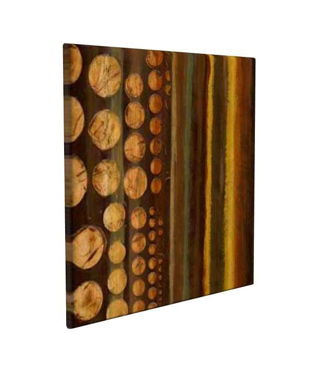 Artjini Terrestrial Multicolour Canvas, Frame - Wood Paintings-Abstract