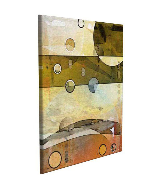 Artjini Thru the Atmosphere II Multicolour Canvas, Frame - Wood Paintings-Abstract