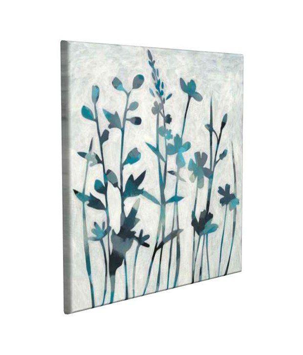 Artjini Twilight Garden II Multicolour Canvas, Frame - Wood Paintings-Floral