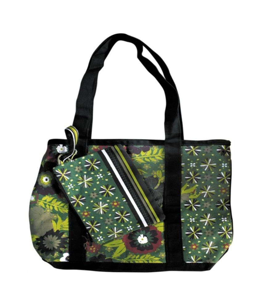OXA Self Printed Canvas Tote Bag With Pouch