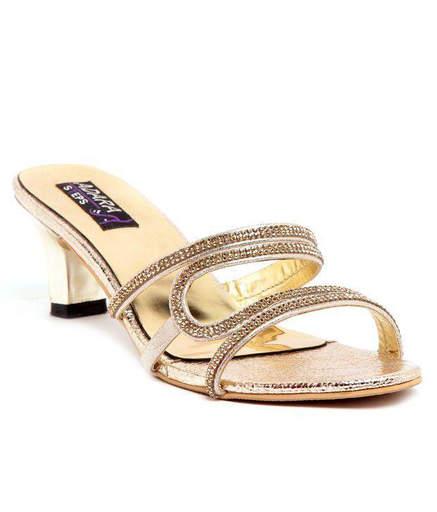 Adara Gold Heeled Slip-On