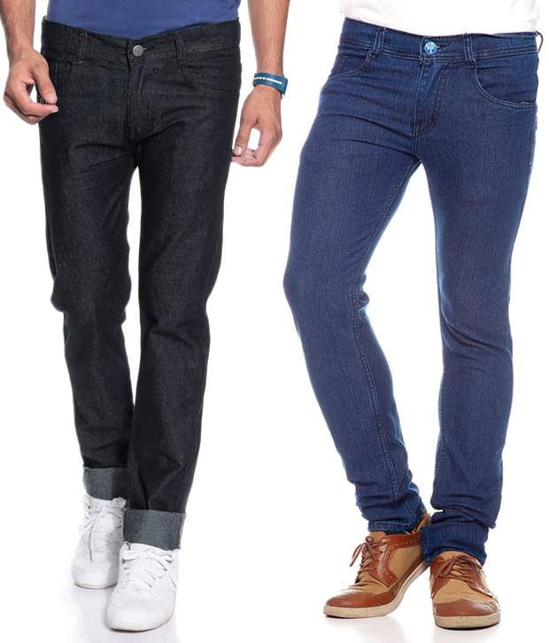 Coaster Combo Of 2 Muti Color Stretchable Jeans for Men