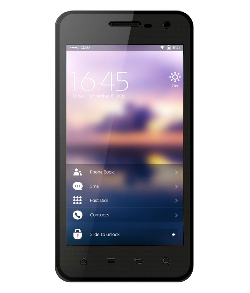 ADCOM A430 IPS 3G/4GB/512 RAM Android Mobile Phone - Black