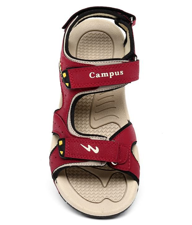 Campus Red Floater Sandals - Buy Campus Red Floater Sandals Online ... aa4e61363ffe
