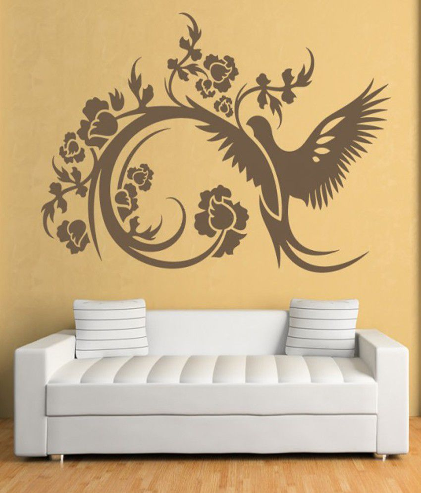 DeStudio - Bird And Floral Decorative One - Wall Art Stickers and ...