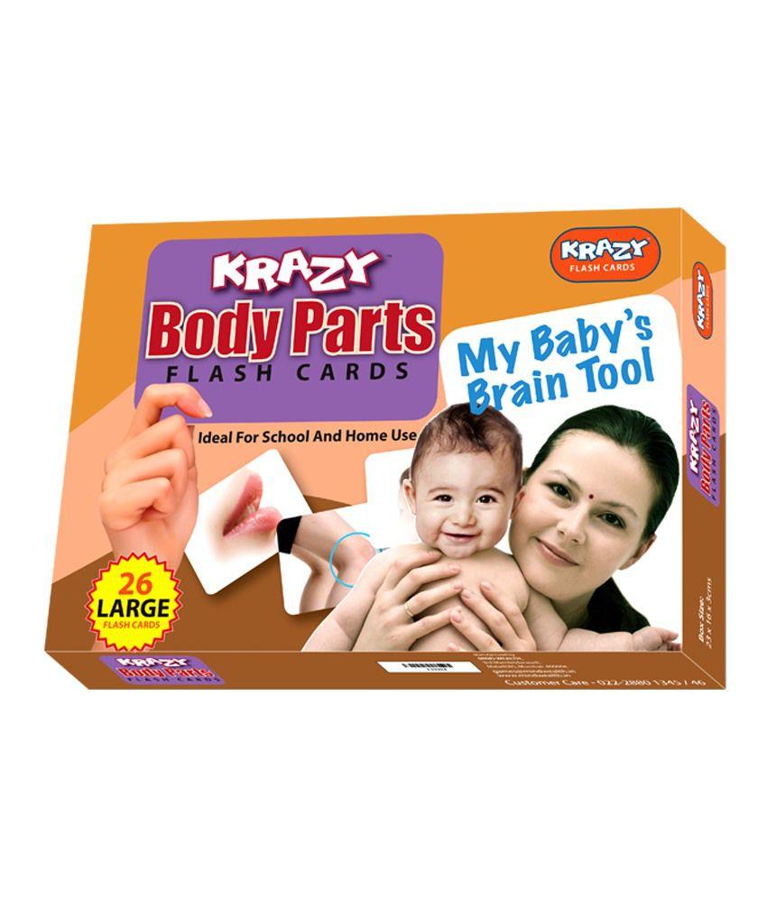 Krazy Body Parts Flash Cards My Baby Brain Tool ...
