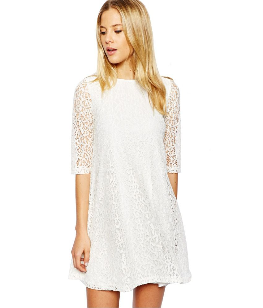 b8cf02ef65ff Maysa White Lace Dresses - Buy Maysa White Lace Dresses Online at Best  Prices in India on Snapdeal