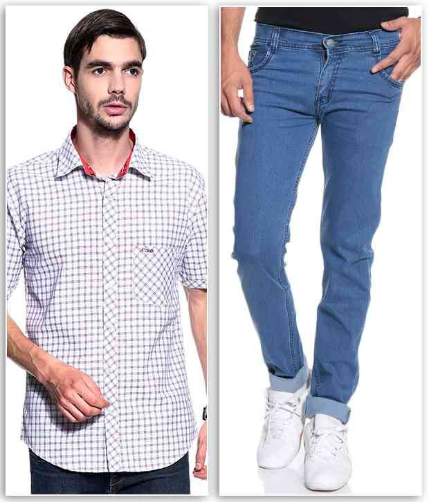 Combo Of Jeans and Shirts for Men