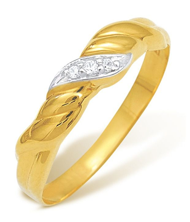 Nishtaa 22k Gold Cubic zirconia Ring