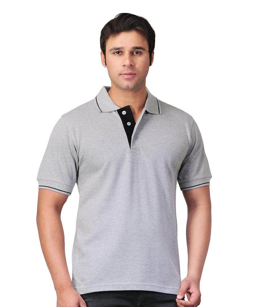 Scottish Polo Gray Half Polo T Shirt Buy Scottish Polo Gray Half
