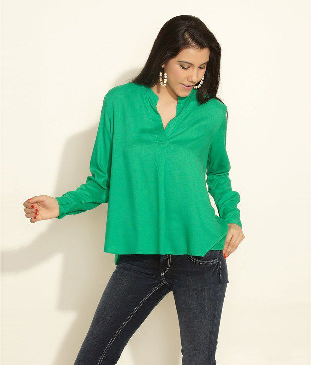 Chemistry Green Polyester Top