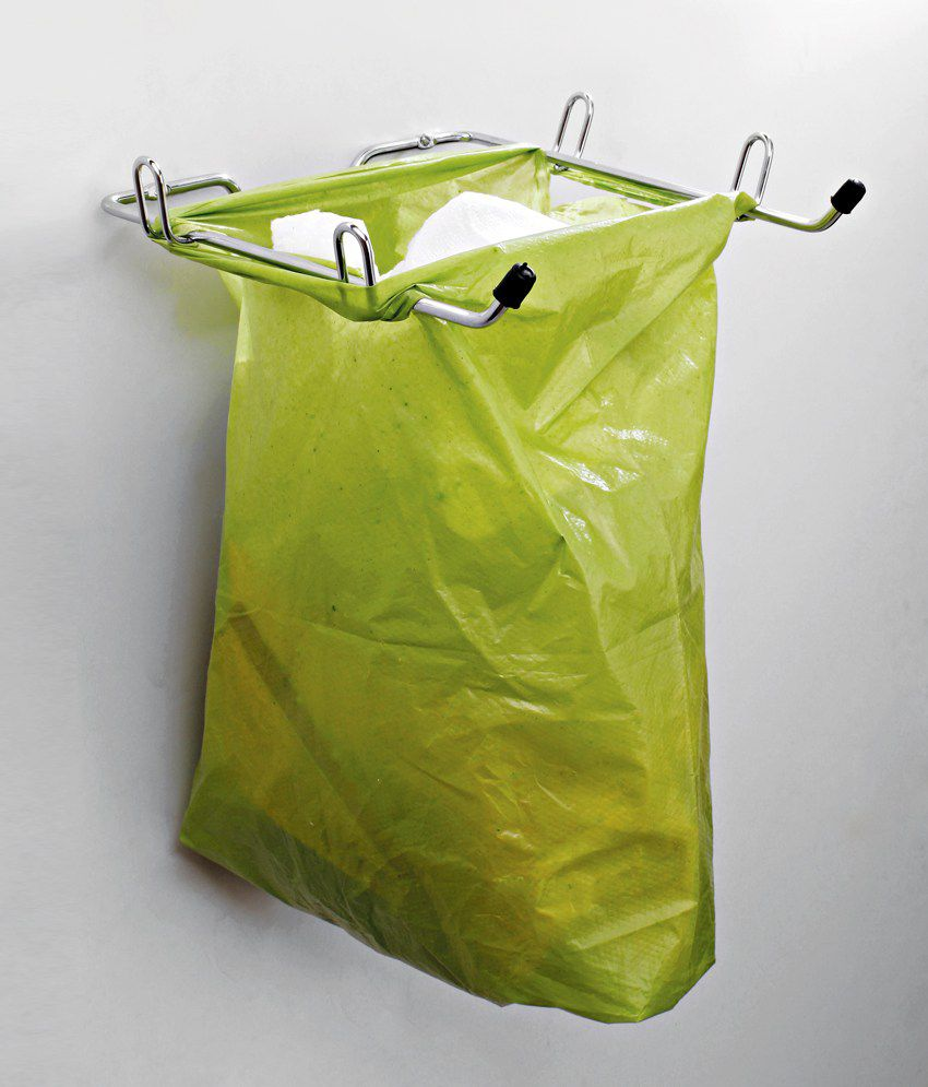 Home Care Stainless Steel Bin Bag Holder