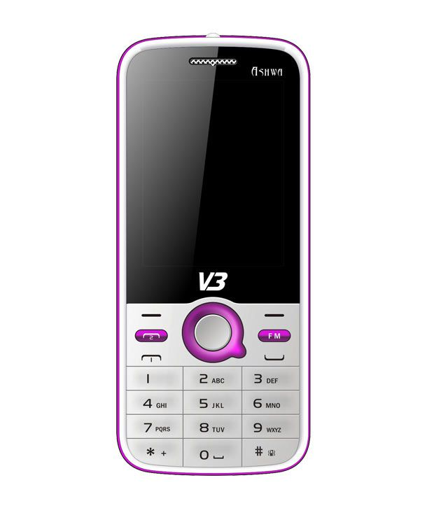 V3 Dual SIM Mobile Phone-Ashwa (White)