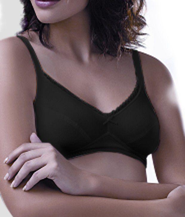 Amante Black Non-Padded Polyester Bra