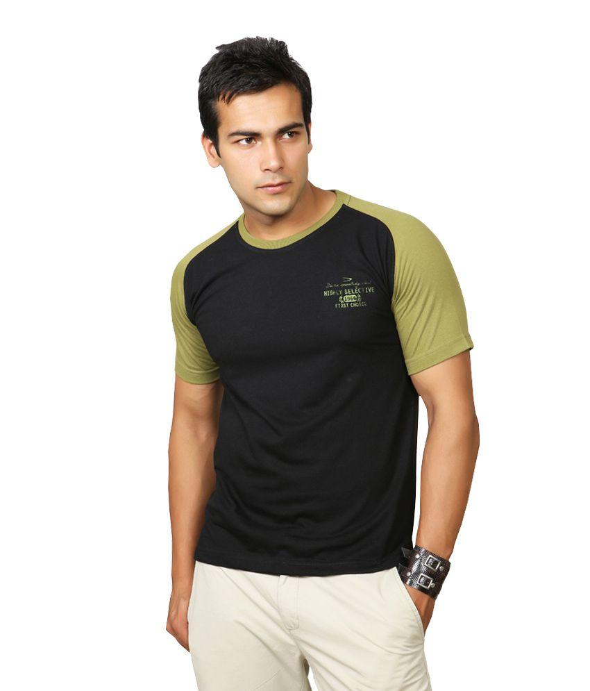 Duke Black Half Cotton Round T-Shirt