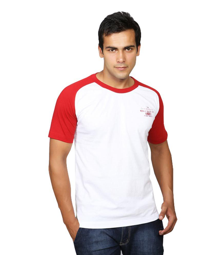 Duke White Half Cotton Round T-Shirt