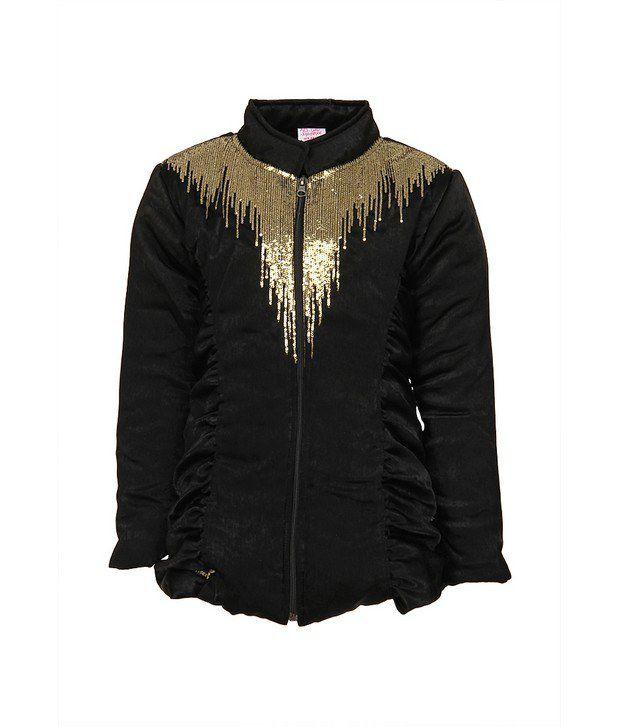Little Kangaroos Black Jackets & Blazer For Girls