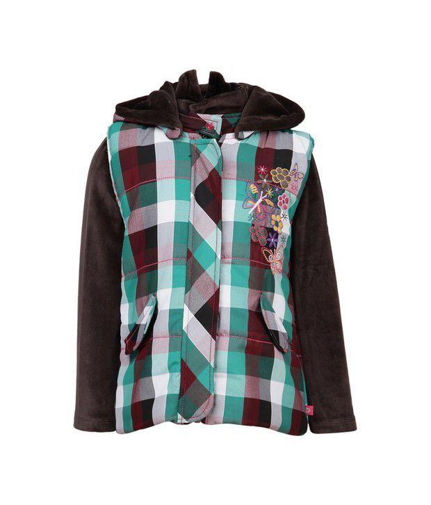 Little Kangaroos Multi Jackets & Blazer For Girls