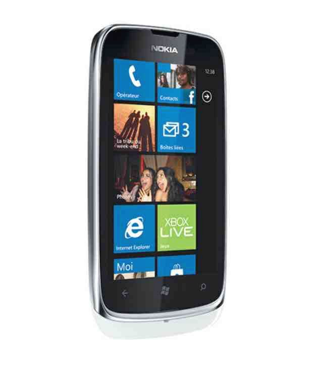 nokia lumia 610 white mobile phones online at low prices snapdeal india. Black Bedroom Furniture Sets. Home Design Ideas