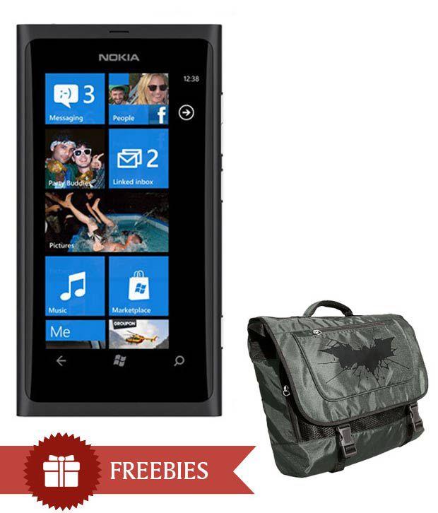 Nokia Lumia 800 (Matt. Black) with The Dark Knight Rises Messenger Bag