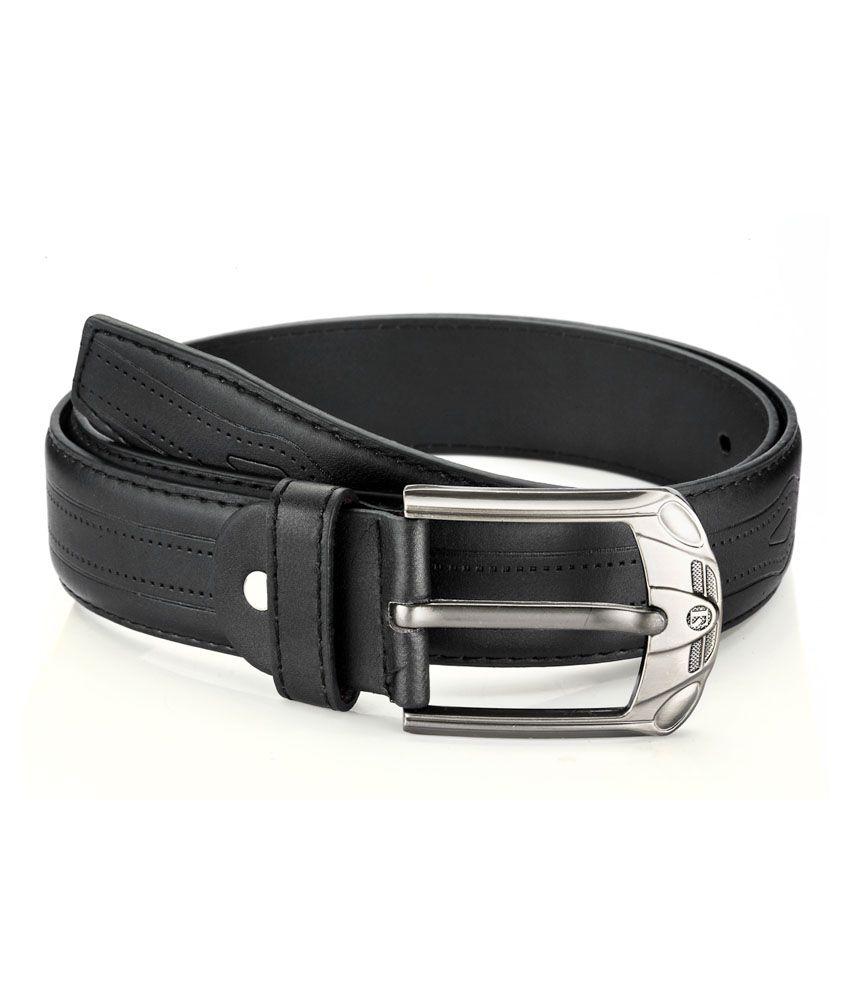 TSX Black Casual Single Belt-Men