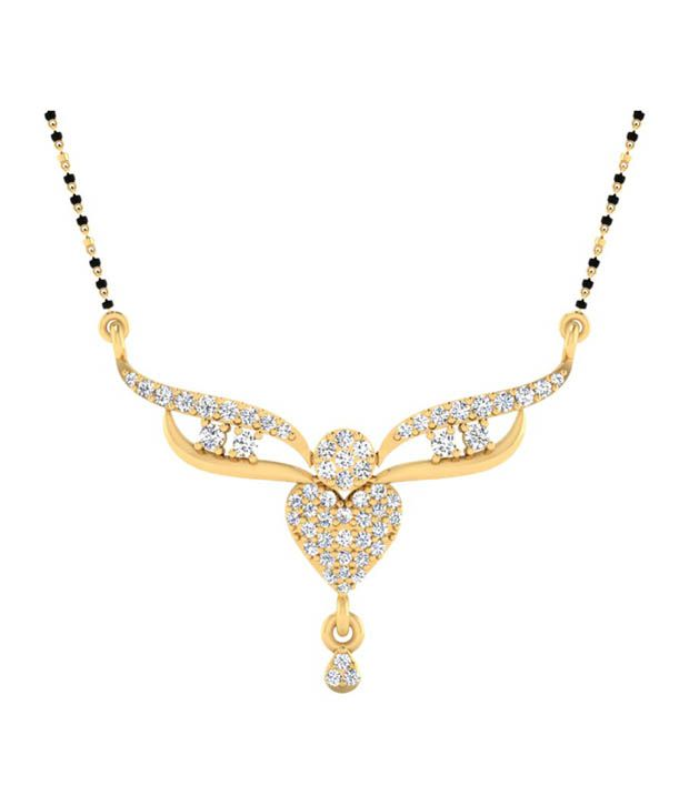 Forever Carat Real Diamond Glitter 0.28 ct Mangalsutra in 100% Certified 925 Sterling Silver