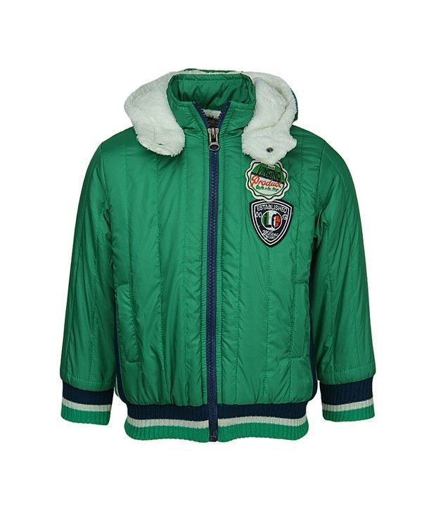 Peridot Green Jackets & Blazer For Girls