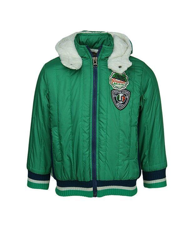 Peridot Green Jackets & Blazer For Girls