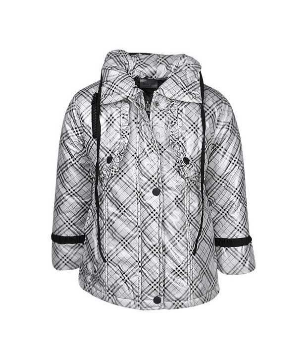 Peridot White Jackets & Blazer For Girls