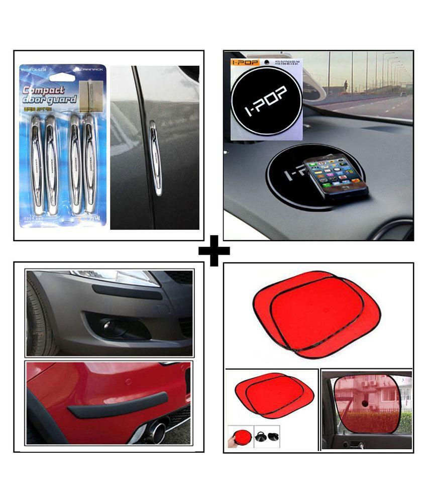 Small Car Doors : Compact car door guard silver black bumper i