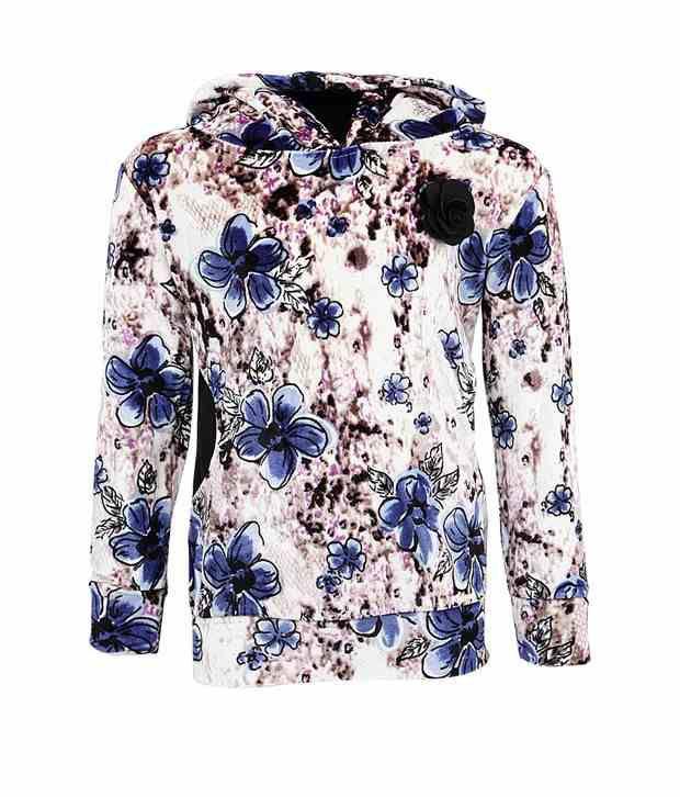 Vine Blue Sweatshirt For Girls