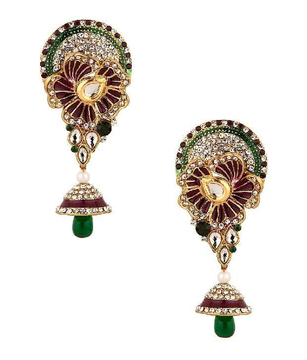 Voylla Earrings with Dainty Jhumki Drop