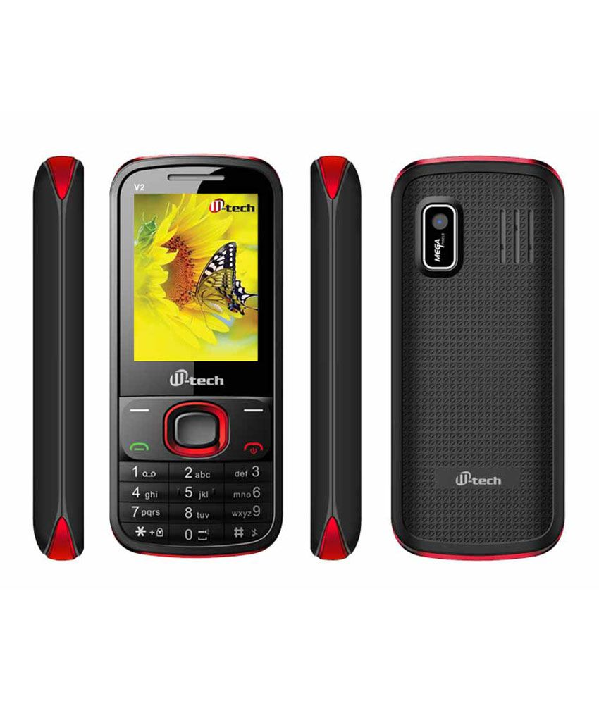 Mtech V2 8Gb Red Mobile Phone