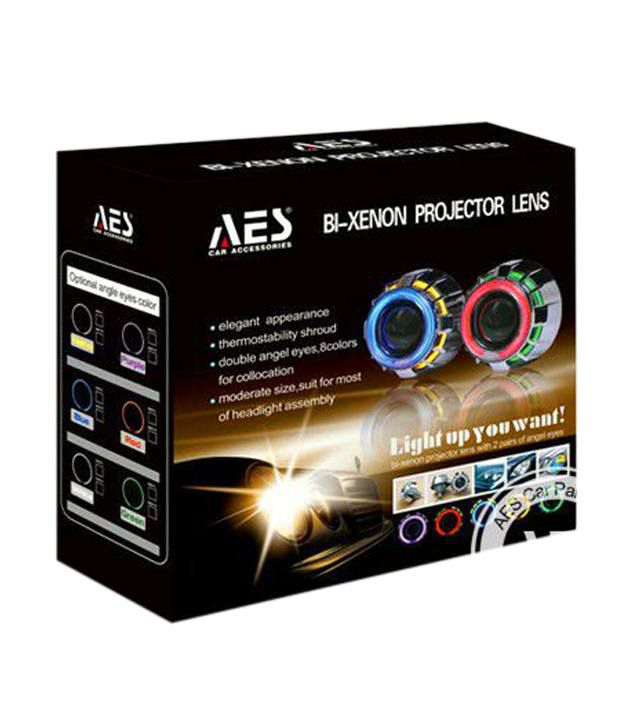Delhi Traderss Car Headlight Projectors With Dual Angel Eye And Bi Xenon Hid Kit With H L Beam